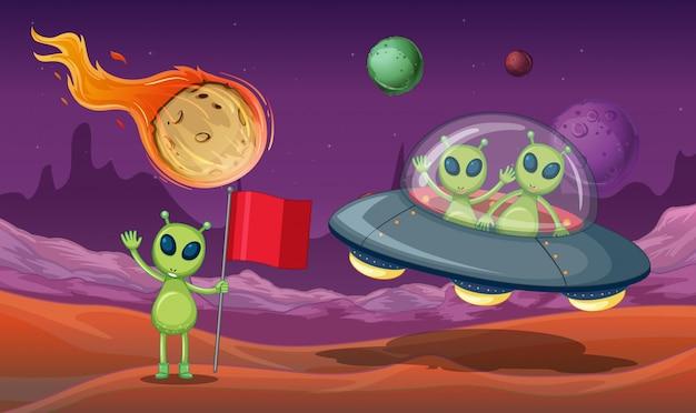 Aliens ovni na galáxia