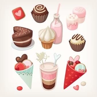Alimentos coloridos para ocasiões relacionadas com o amor.