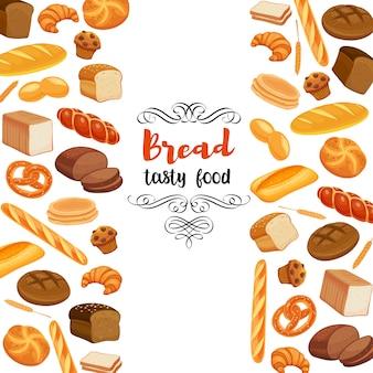 Alimentos com produtos de pão.