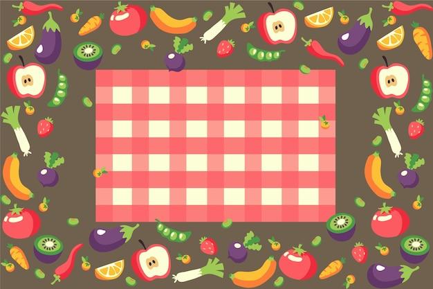 Alimentos de design de plano de fundo