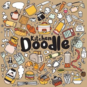 Alimentos e cozinha doodles