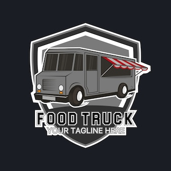Alimentos logotipo modelo de caminhão