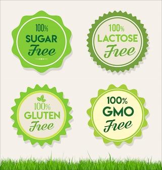 Alimentos naturais saudáveis rotula etiquetas orgânicas