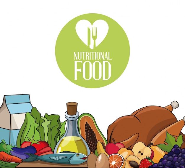 Alimentos nutricionais produtos de dieta fresca
