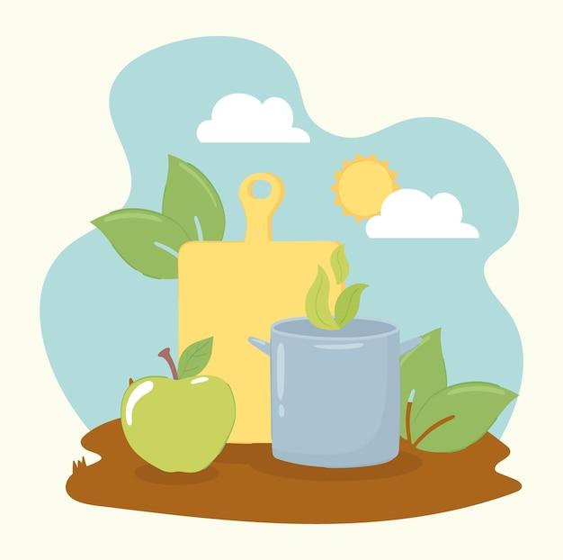 Alimentos orgânicos e frescos