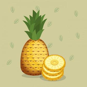 Alimentos saudáveis de abacaxis frescos