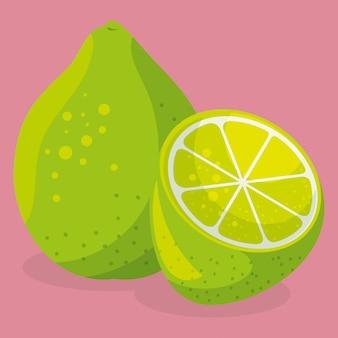 Alimentos saudáveis de frutas frescas de limão