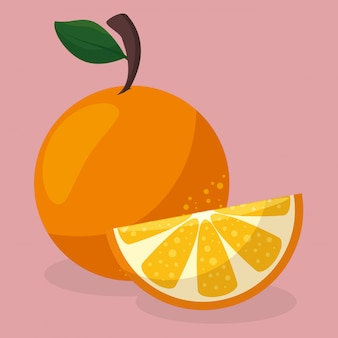Alimentos saudáveis de frutas frescas laranja
