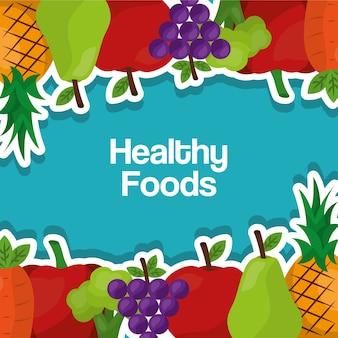 Alimentos saudáveis estilo de vida benefícios frutas legumes fronteira