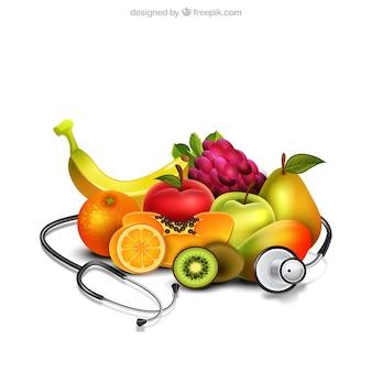 Alimentos saudáveis realistic
