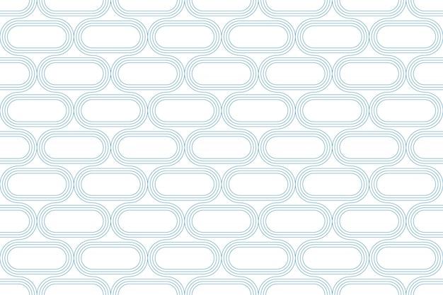 Alinhe a linha azul sem emenda do teste padrão abstrato geométrico no fundo branco.