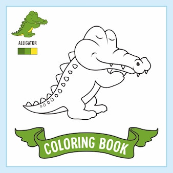 Alligator coloring pages book crocodile