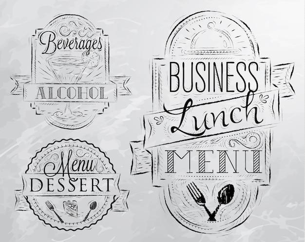 Almoço de negócios de elementos cinza