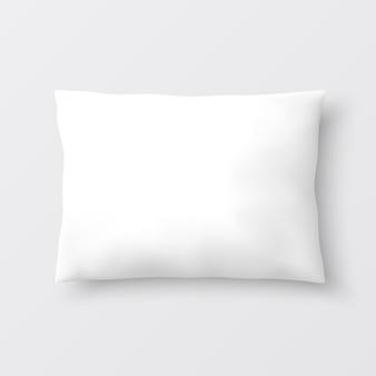 Almofada branca. ilustração.
