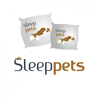 Almofadas com cães do sono