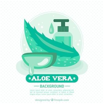 Aloe vera background com produto