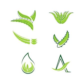 Aloe vera vector icon design ilustração template