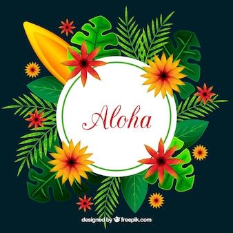 Aloha com natureza tropical