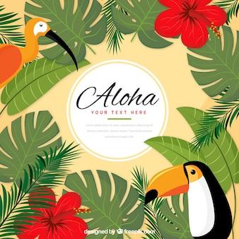 Aloha fundo de pássaros exóticos