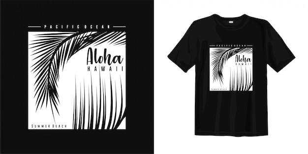 Aloha havaí praia de verão