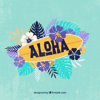Aloha surfboard background