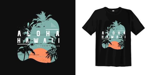Aloha t-shirt da praia do verão de havaí