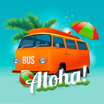 Aloha van background