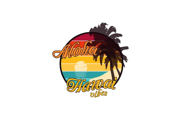 Aloha vibrações do havaí, maquete maquete