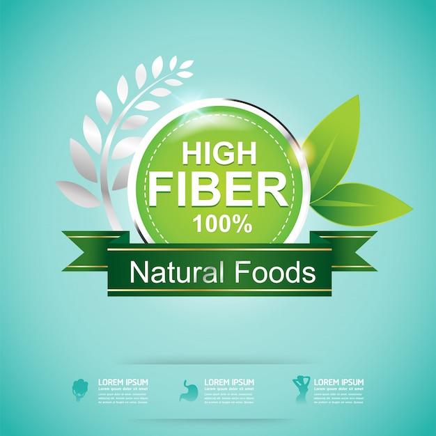 Alta fibra em alimentos e vitaminas