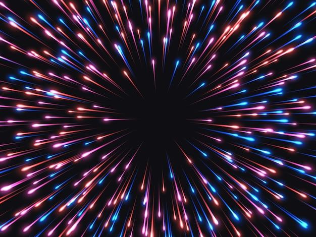 Alta velocidade. fundo abstrato da explosão.