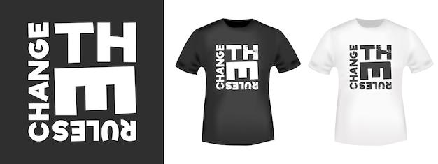 Alterar as regras de impressão de t-shirt para apliques de camisetas