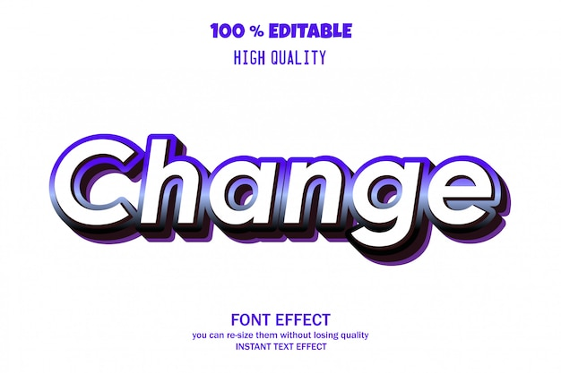 Alterar efeito de fonte editável