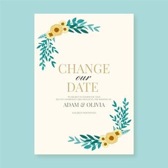 Alterar o quadro de data das flores