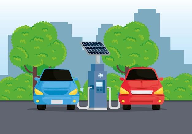 Alternativa ecológica de carros elétricos no projeto da estação de carregamento