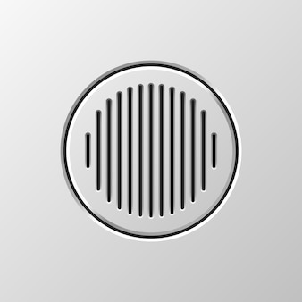 Alto-falante de áudio abstrato