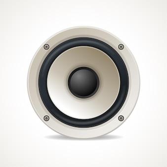 Alto-falante de áudio branco vintage. ótimo som