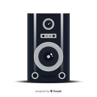 Alto-falante de design plano para música