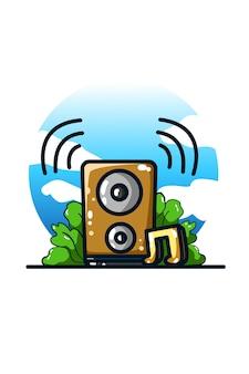 Alto-falante de música e som