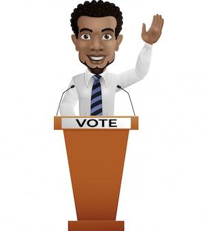 Alto-falante do empresário no pódio de apresentação