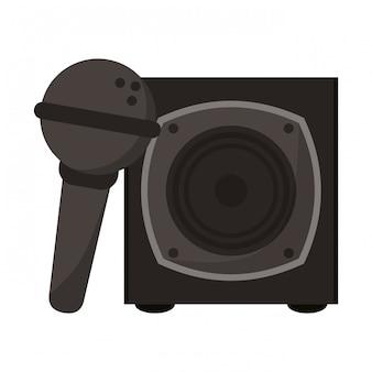 Alto-falante e microfone de música