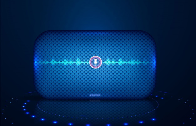 Alto-falante inteligente com controle de voz