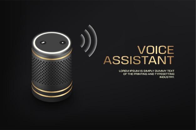 Alto-falante inteligente de luxo com assistente de voz