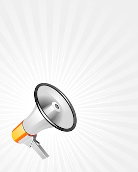 Alto-falante moderno na ilustração de fundo branco