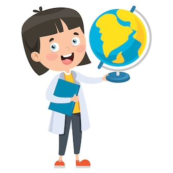 Aluno estudando geografia