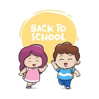 Alunos de volta à escola