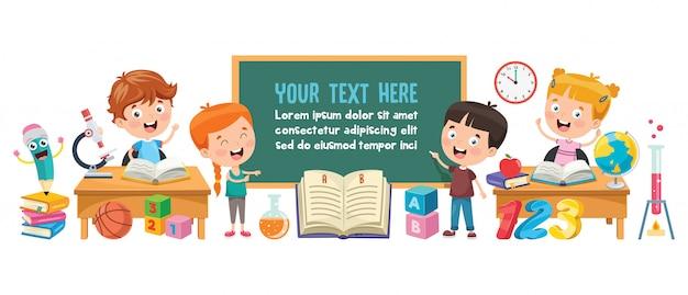 Alunos estudando e lendo