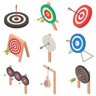 Alvo com conjunto de ícones de seta