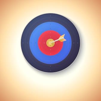 Alvo com flecha batendo no centro