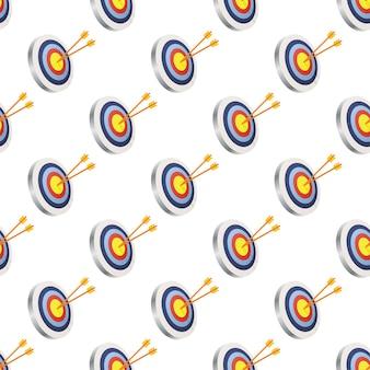 Alvo com uma flecha pettern. imagem vetorial.