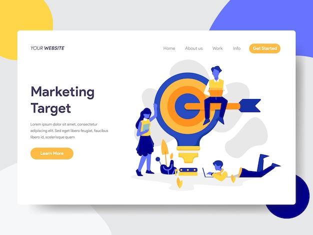 Alvo de marketing para página da web